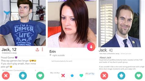 Tinder profiles for my wife and me (YIAY #482) - YouTube