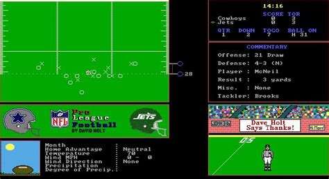 NFL Pro League Football Download (1989 Sports Game)