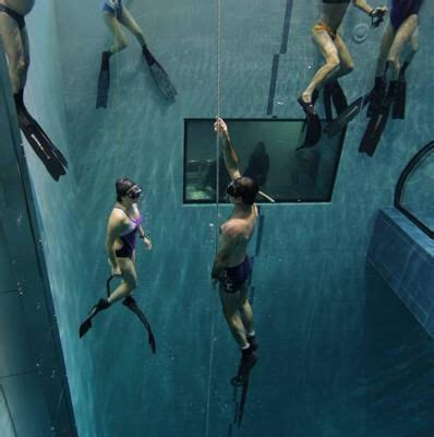 Y40 deepest Pool of the world with termal water Padova Italy