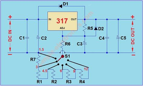 Power Supply with Selectable Output | simple electronics