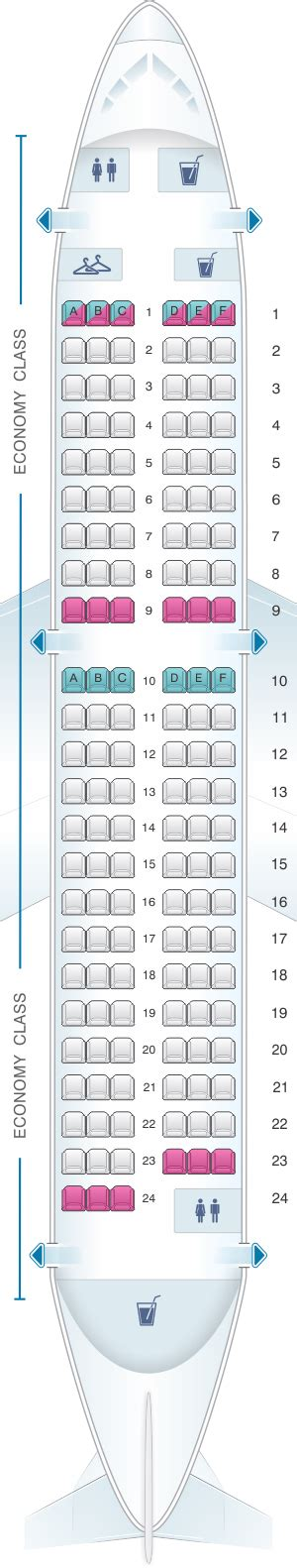 Seat Map Brussels Airlines Airbus A319 | SeatMaestro