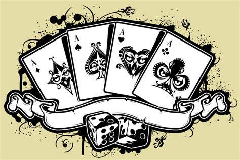 Vector Set of Aces Playing Cards
