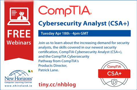 NEW CompTIA Cybersecurity Analyst Certification - Ireland