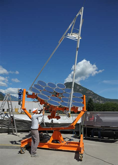 sunflower solar panels provide electricity & heat to