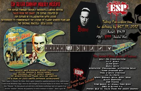 Bela Lugosi's Tales from the Grave Guitar and Coffin Case