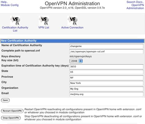 Setting up an OpenVPN tunnel using a CentOS-based system