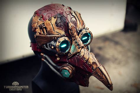 Arcane Steampunk/victorian LED plague doctor mask by