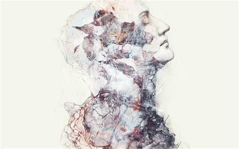 Person, Face, Profile, Closed eyes, Album covers, Drawn