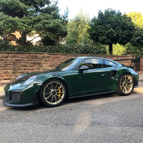 British Racing Green Porsche 911 GT2 RS with White Gold