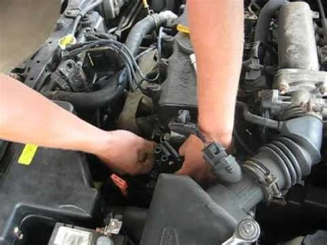 Replacing the coil in the 2000 hyundai accent - YouTube