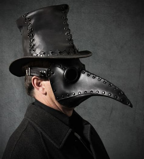 """Plague Doctor mask in black leather """"Schnabel""""   Plague"""