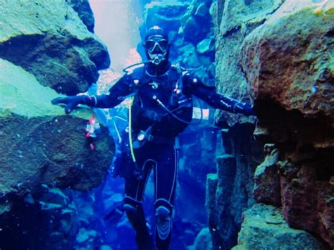 The Silfra Crack, Where Divers Can Touch Two Continents at