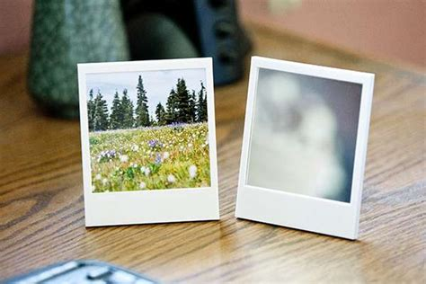 Nostalgic Picture Displays : Polaroid Picture Frame and Mirror