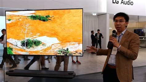 LG 77-inch W7 Signature Wallpaper OLED TV at IFA 2017