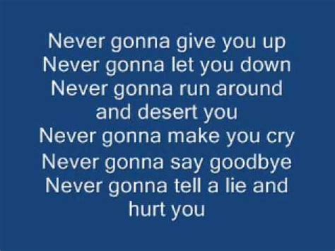 Never Gonna Give You Up By Rick Astley (AKA The Rick Roll